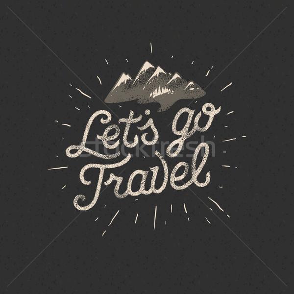 Viajar aventura motivação andarilho mochila terreno Foto stock © ikopylov