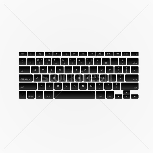 Computer keyboard, isolated Stock photo © ikopylov