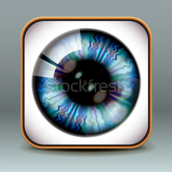 App ontwerp oog icon vector eps10 Stockfoto © ikopylov