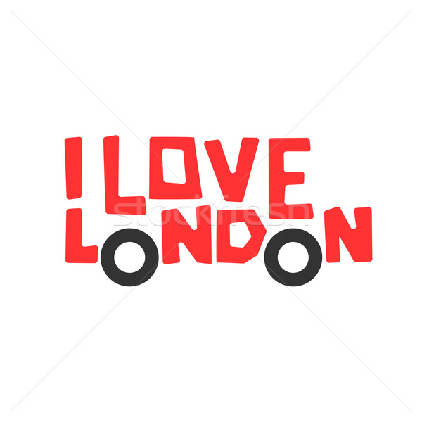 I love London, t-shirt design, logo graphic, vector illustration. Stock photo © ikopylov