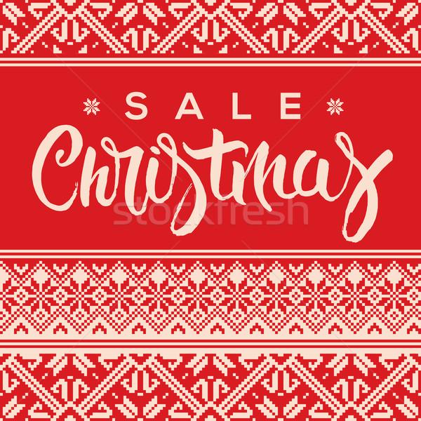 Christmas sale poster Stock photo © ikopylov
