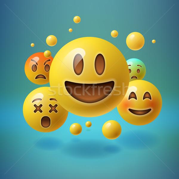 Social media gezicht liefde gelukkig Stockfoto © ikopylov