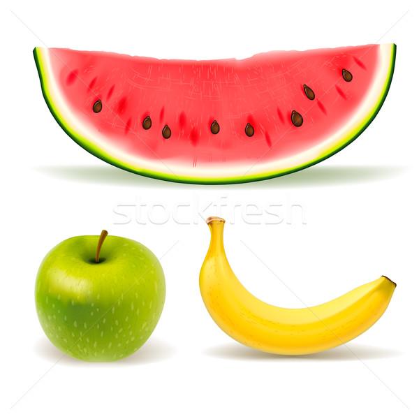 Fruits frais blanche vecteur eps10 illustration Photo stock © ikopylov
