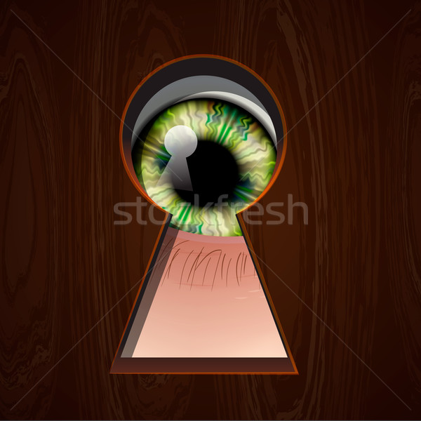 Interested Eye looking in keyhole Stock photo © ikopylov
