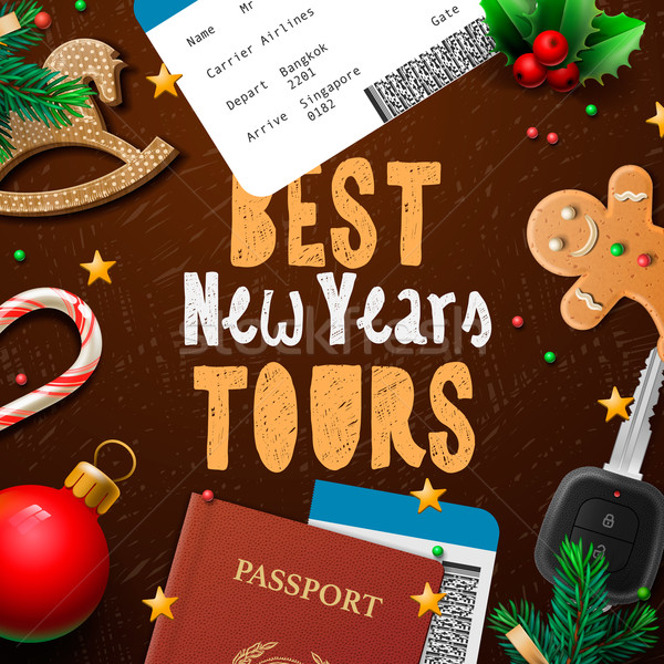 Christmas and New Year, vacations travel, tours Stock photo © ikopylov