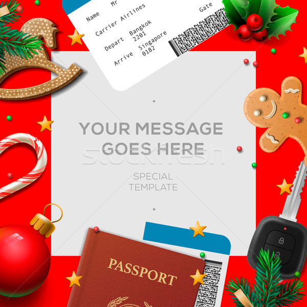 Merry Christmas wish list, letter for Santa Claus Stock photo © ikopylov