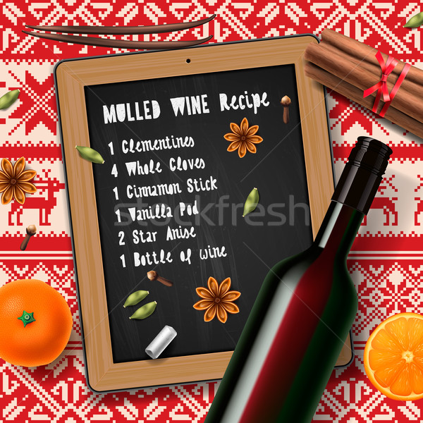 Christmas drink mulled wine Stock photo © ikopylov
