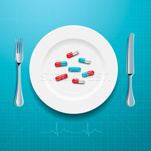 錠剤 プレート ベクトル eps10 実例 医療 ストックフォト © ikopylov