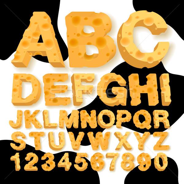 Foto stock: Alfabeto · números · queijo · textura · comida · vaca