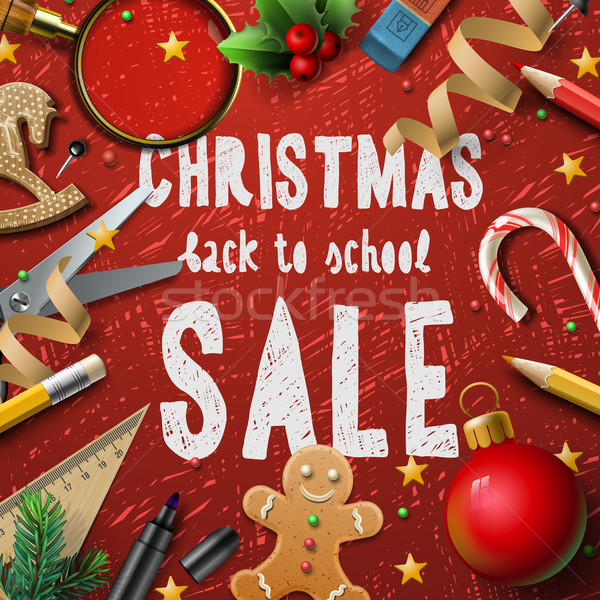Christmas school sale Stock photo © ikopylov