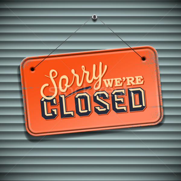 Cerrado signo vintage información vector eps10 Foto stock © ikopylov