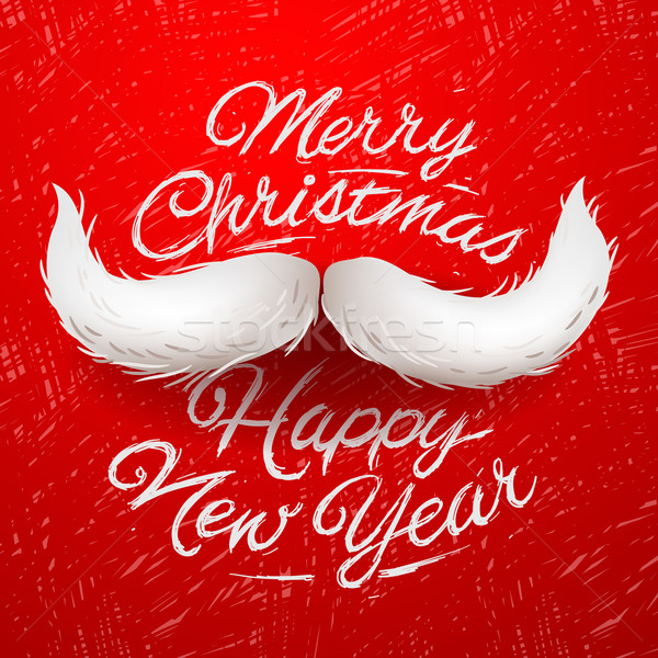 Santa's moustache, Merry Christmas and Happy New Year  Stock photo © ikopylov
