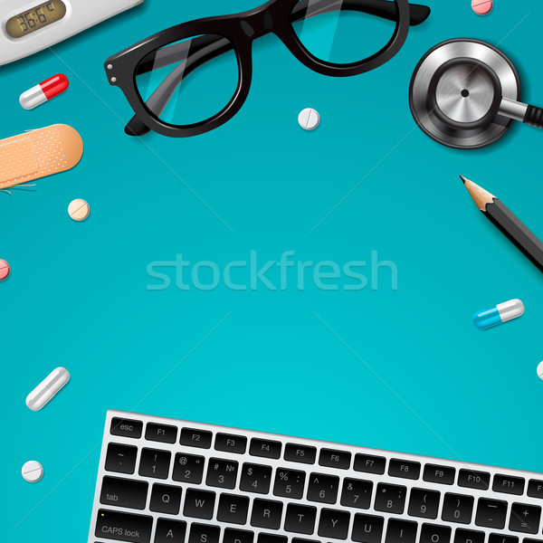 First aid and diagnostic, global healthcare Stock photo © ikopylov