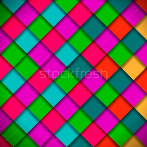 Heldere kleuren mozaiek patroon vector eps10 Stockfoto © ikopylov
