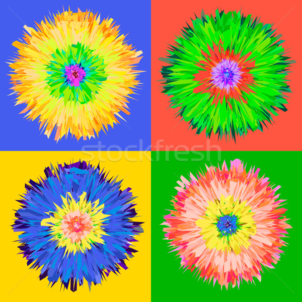 Pop art flower. Stock photo © ikopylov