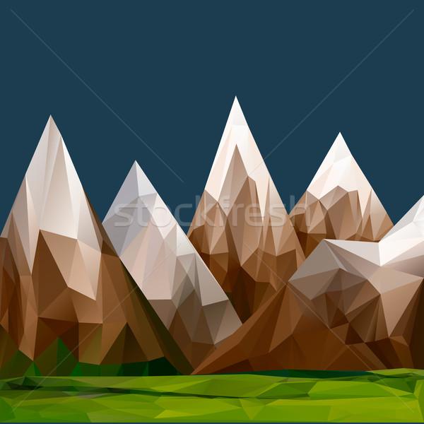 Mountainous terrain, polygonal background Stock photo © ikopylov