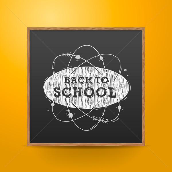 Tableau noir mur résumé vecteur eps10 Photo stock © ikopylov
