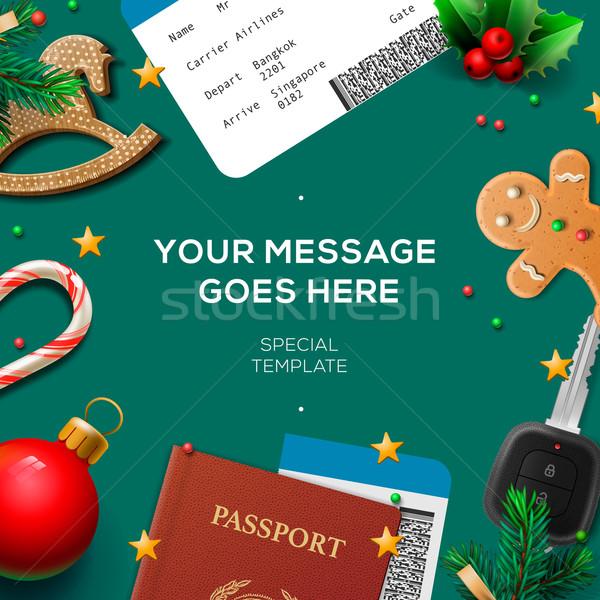 Christmas and New Year, winter vacations, holidays Stock photo © ikopylov