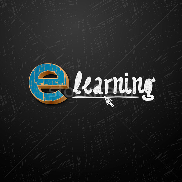 E-learning logtype design Stock photo © ikopylov