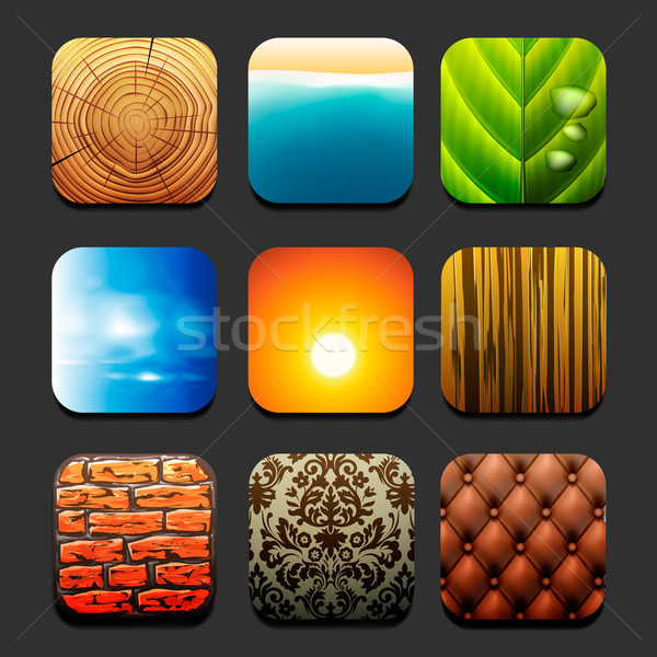 Zdjęcia stock: Kolekcja · charakter · tekstury · zestaw · wektora