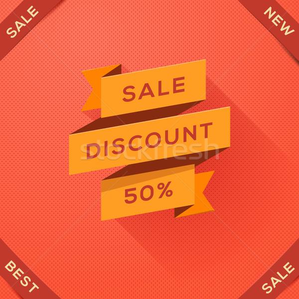 Sale, discount paper folding design Stock photo © ikopylov