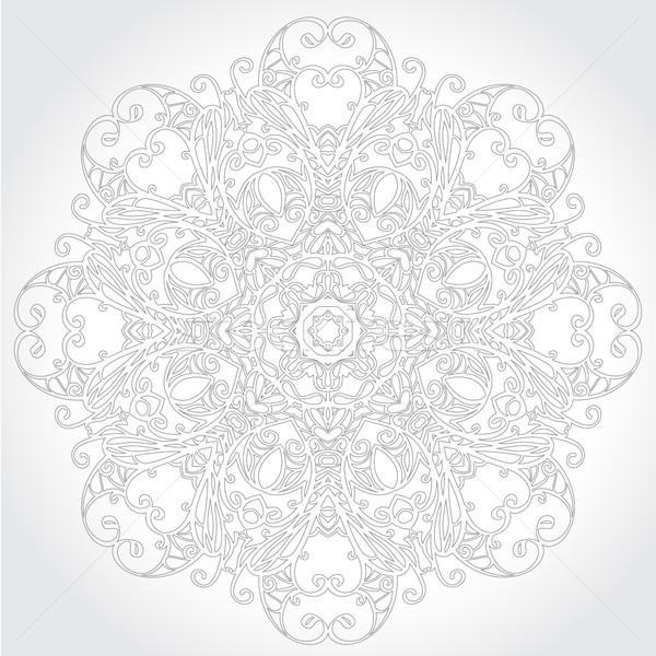 декоративный кружево цветочный шаблон текстуры фон Сток-фото © iktash