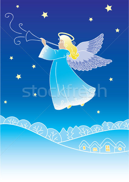 ангела любви сердце дизайна снега Сток-фото © iktash