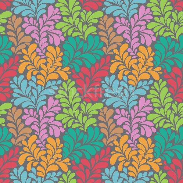 красочный аннотация цветок бумаги дерево Сток-фото © iktash