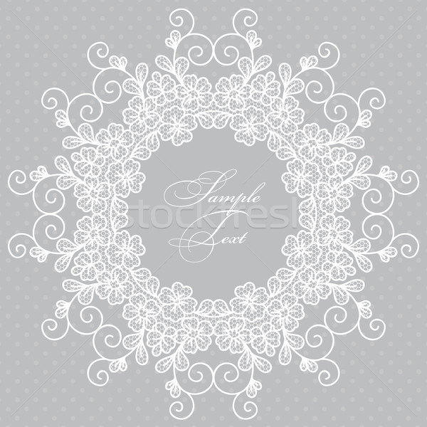 Stock photo: Round lace card
