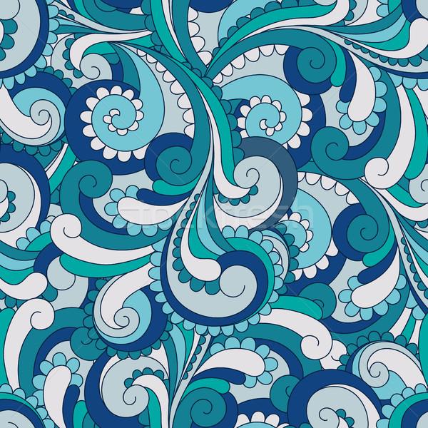 аннотация бесшовный вектора шаблон текстуры морем Сток-фото © iktash