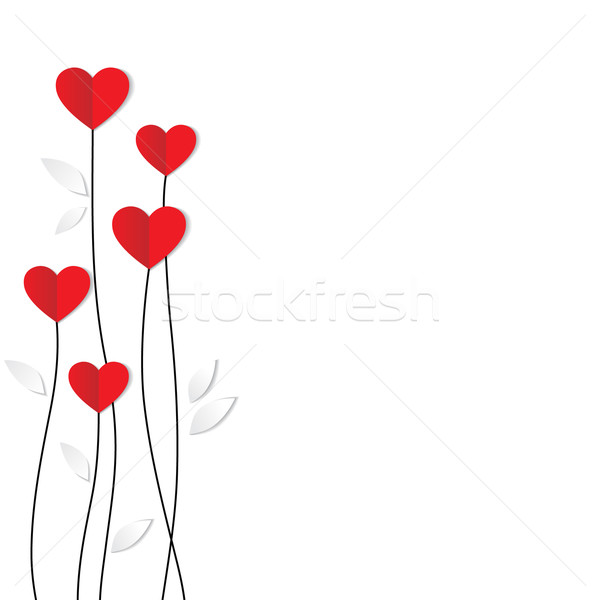 Vacances carte coeur papier saint valentin fleur Photo stock © iktash