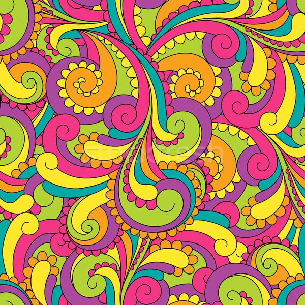 аннотация бесшовный вектора шаблон ярко цветами Сток-фото © iktash