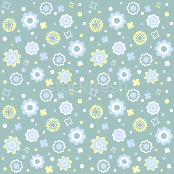 Vector seamless flower pattern Stock photo © iktash