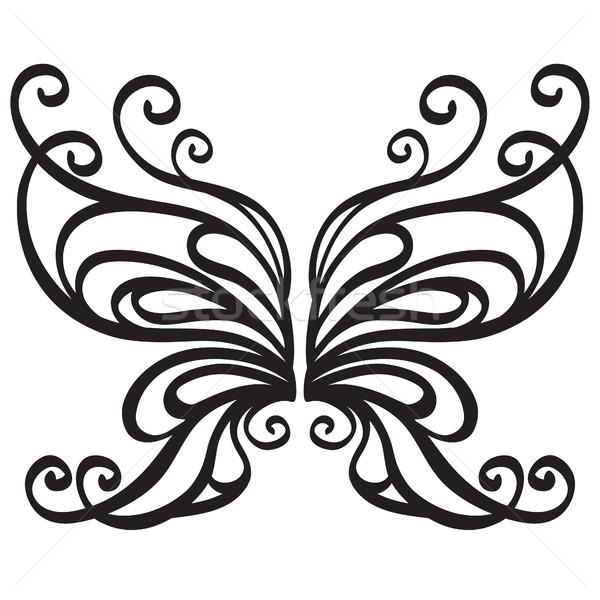 декоративный вектора бабочка цветок весны дизайна Сток-фото © iktash
