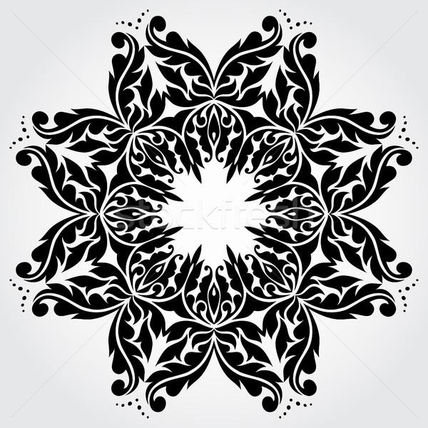 вектора кружево элемент декоративный кадр бумаги Сток-фото © iktash