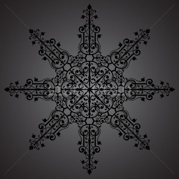 Vintage орнамент черный звездой бумаги свадьба Сток-фото © iktash