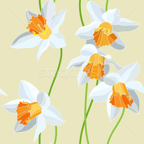 бесшовный вектора шаблон цветок весны аннотация Сток-фото © iktash