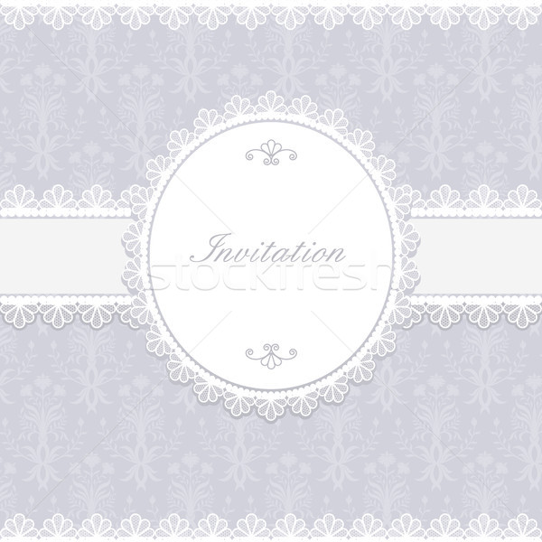 Invitation anniversaire carte étiquette texture fête Photo stock © iktash