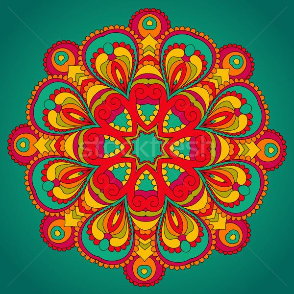 вектора орнамент текстуры фон искусства ткань Сток-фото © iktash