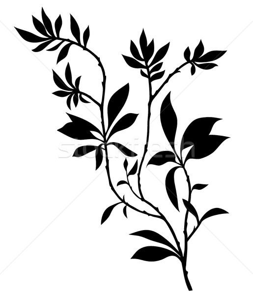 дерево силуэта текстуры солнце дизайна Сток-фото © iktash