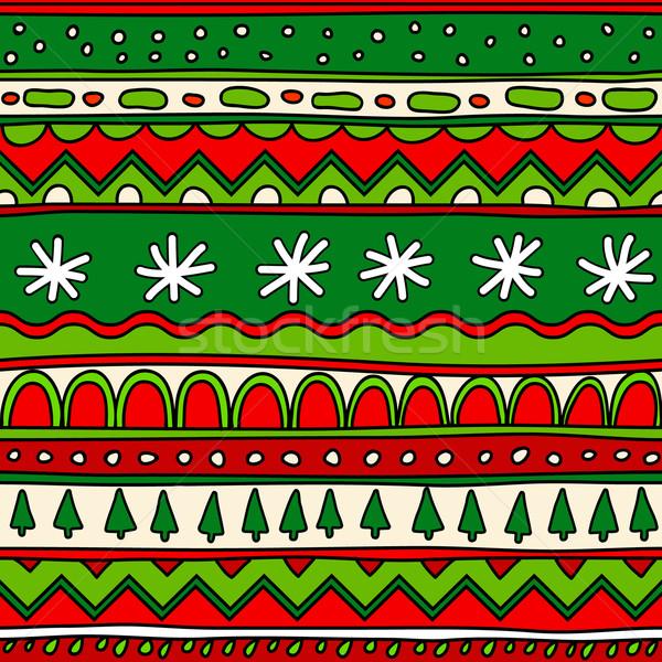 Foto stock: Sem · costura · teste · padrão · do · natal · papel · textura · neve · arte