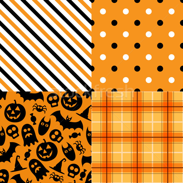 Halloween vecteur modèle Pack papier design Photo stock © iktash