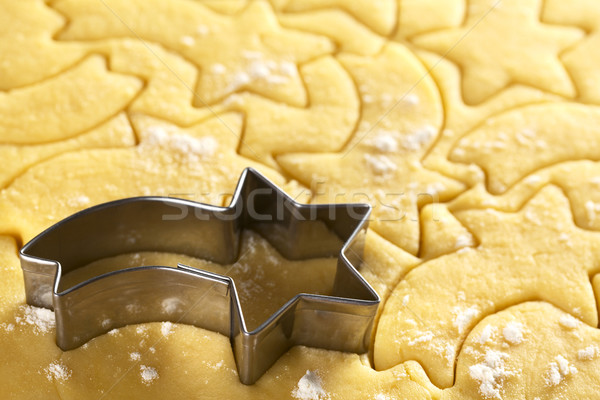 Cottura Natale cookies fuori stella cadente Foto d'archivio © ildi