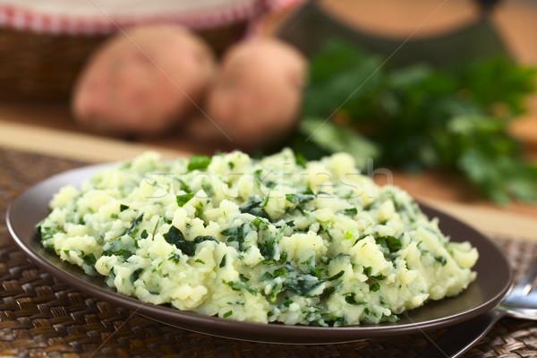 Mashed Potatoes with Herbs Stock photo © ildi