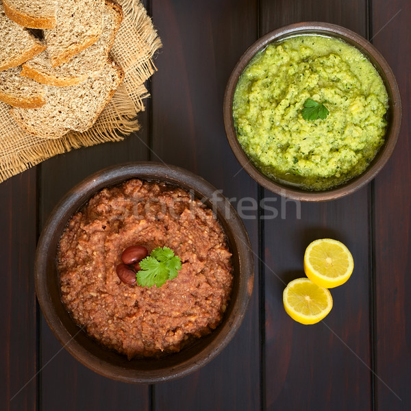 Vegetales tiro rústico bolos casero rojo Foto stock © ildi