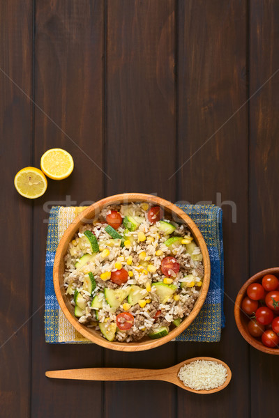 Rice Dish with Vegetables and Mincemeat Stock photo © ildi