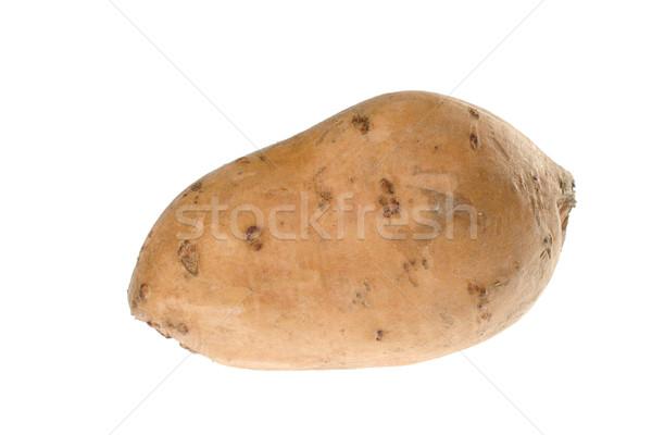 Patata dolce bianco isolato arancione impianto vegetali Foto d'archivio © ildi