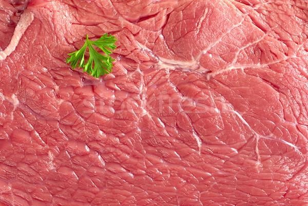 Raw Beef Meat with Parsley Stock photo © ildi
