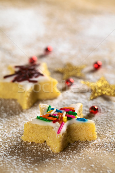 Star-Shaped Cookie with Colorful Sprinkles Stock photo © ildi