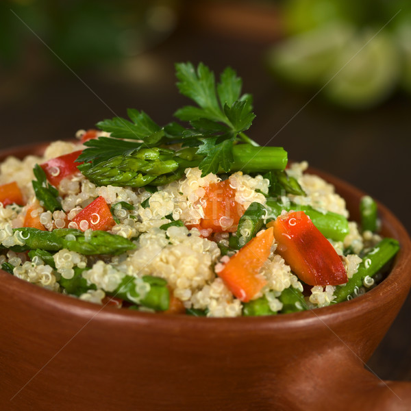 Stock photo: Quinoa with Asparagus and Bell Pepper